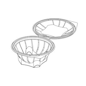 Salad Containers with Hinged Lid