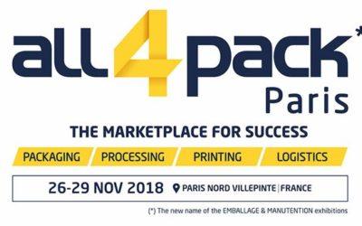ALL4PACK PARIS NOV 26 – 29, 2018